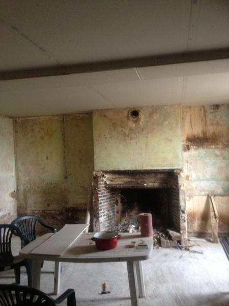Avancement des travaux dans l'ancienne maison